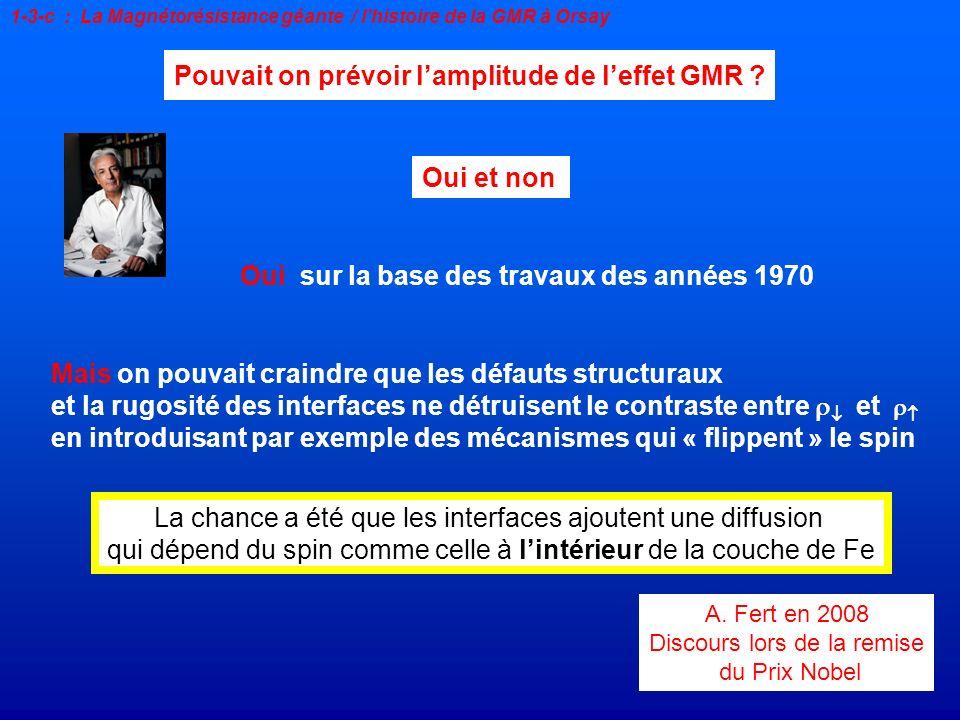 Pouvait on prévoir l'amplitude de l'effet GMR