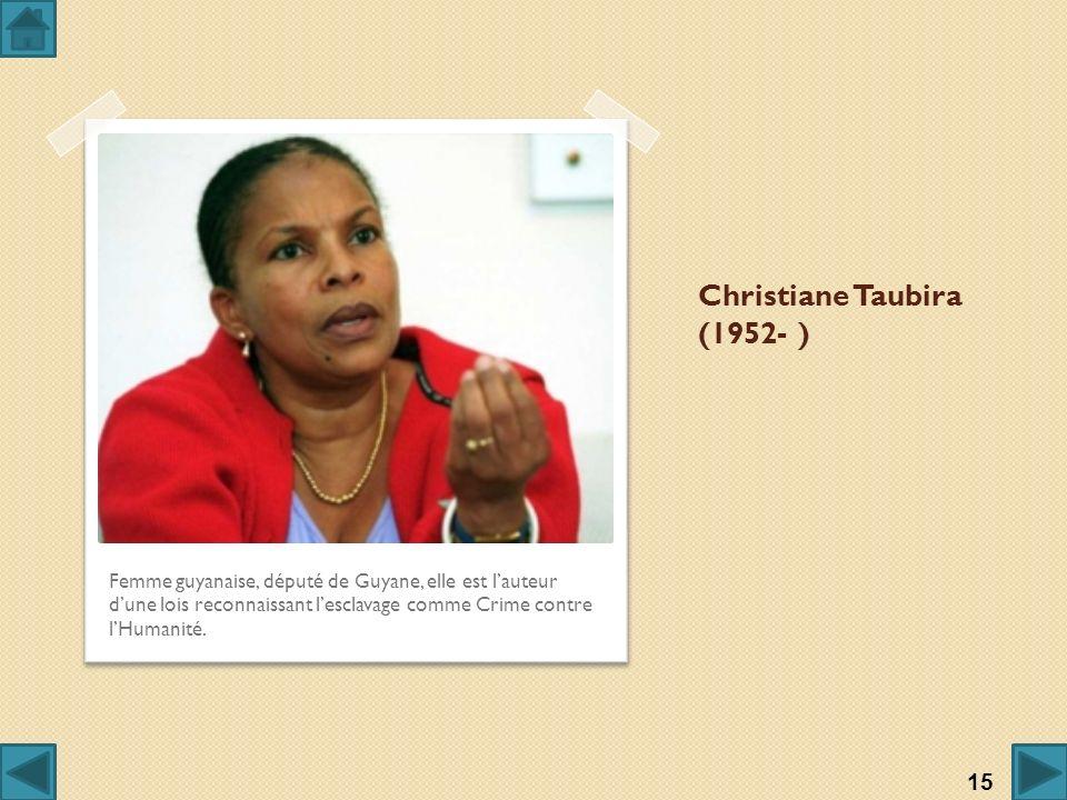 Christiane Taubira (1952- )
