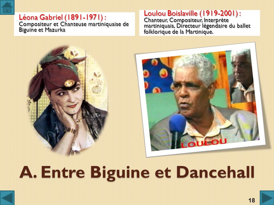 A. Entre Biguine et Dancehall