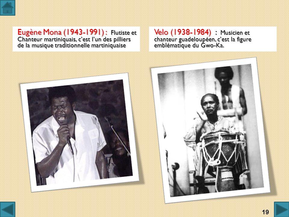 Eugène Mona (1943-1991) : Flutiste et Chanteur martiniquais, c'est l'un des pilliers de la musique traditionnelle martiniquaise