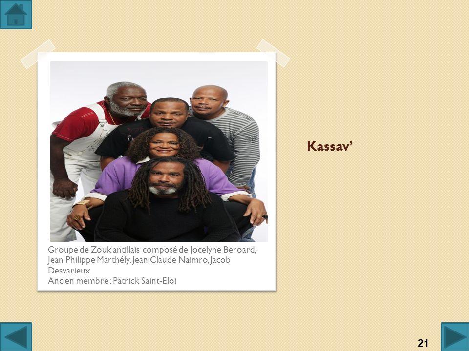 Kassav' Groupe de Zouk antillais composé de Jocelyne Beroard, Jean Philippe Marthély, Jean Claude Naimro, Jacob Desvarieux.
