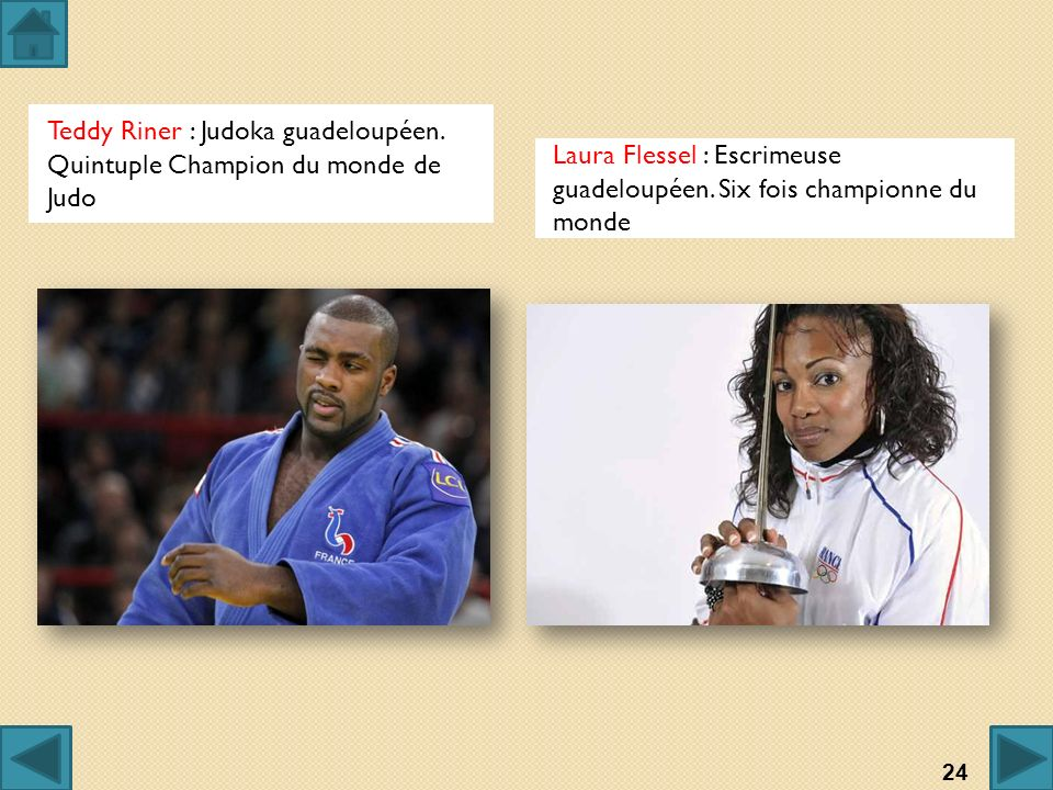 Teddy Riner : Judoka guadeloupéen. Quintuple Champion du monde de Judo