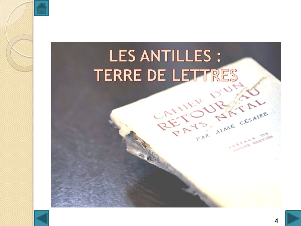 LES ANTILLES : TERRE DE LETTRES