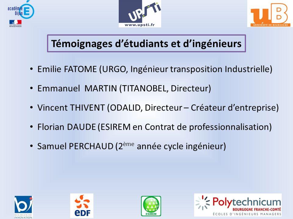 Témoignages d'étudiants et d'ingénieurs