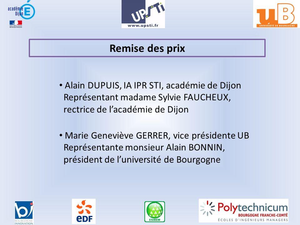 Remise des prix Alain DUPUIS, IA IPR STI, académie de Dijon