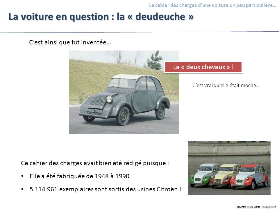 La voiture en question : la « deudeuche »