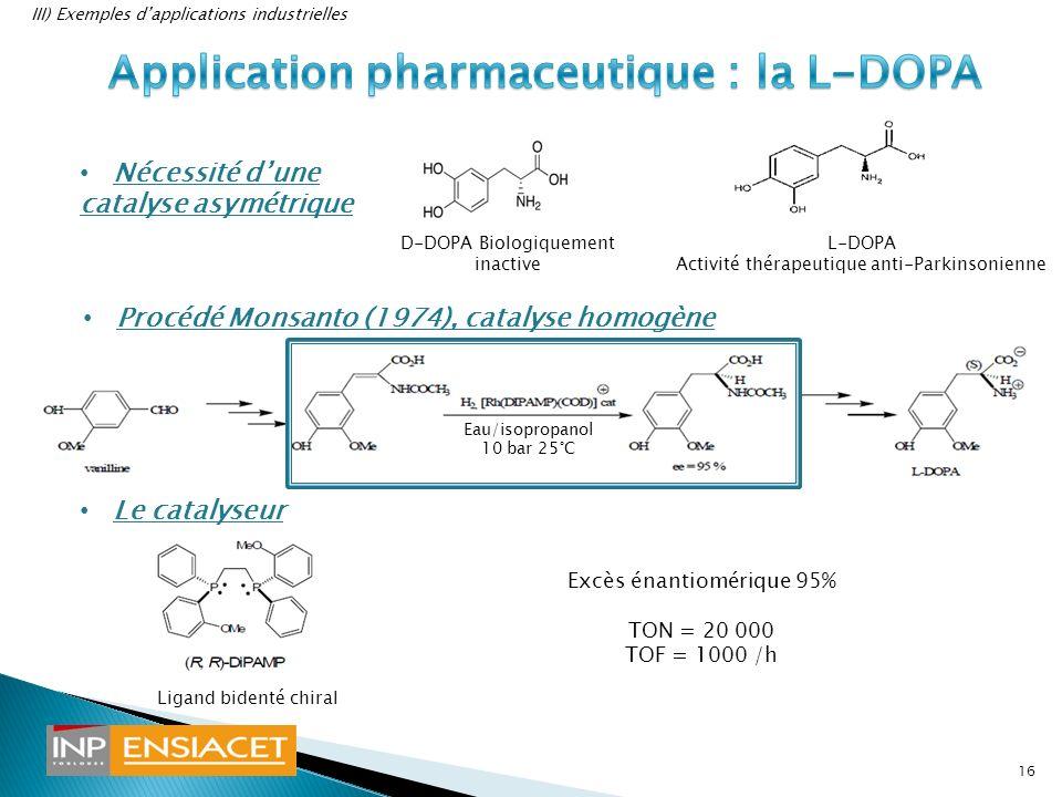 Application pharmaceutique : la L-DOPA