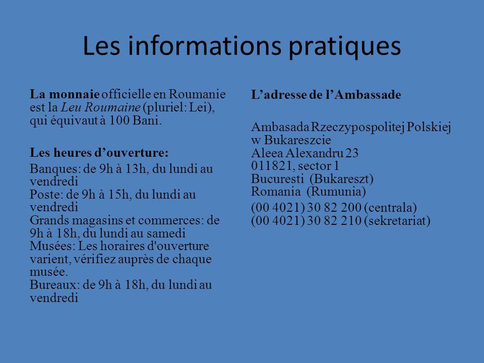 Les informations pratiques