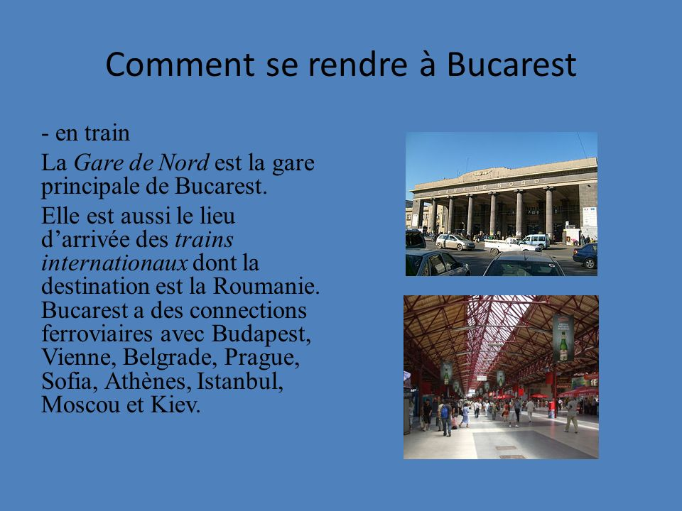 Comment se rendre à Bucarest