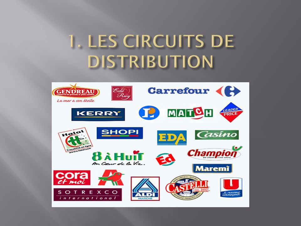 1. LES CIRCUITS DE DISTRIBUTION