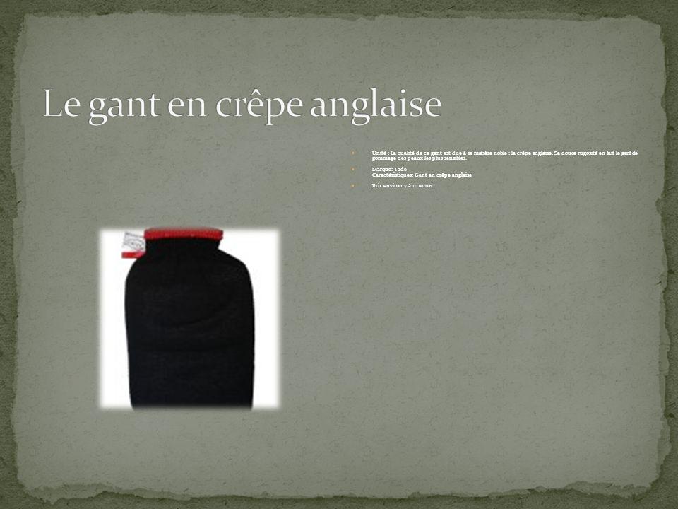 Le gant en crêpe anglaise