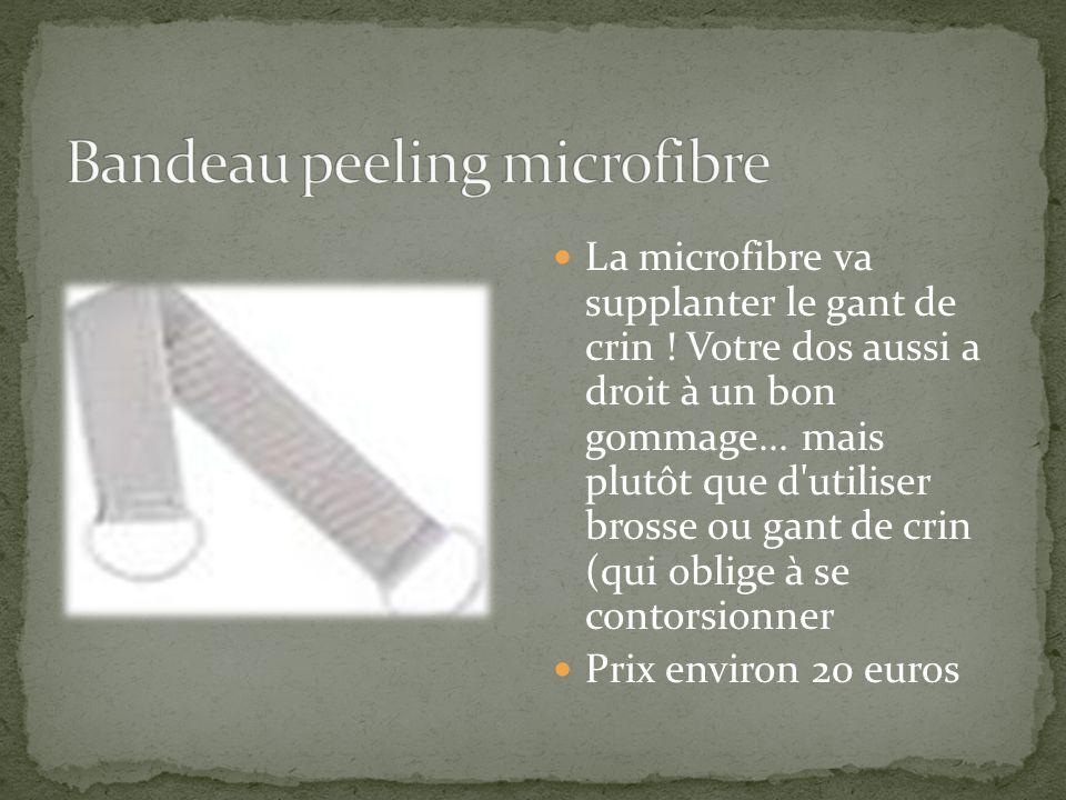 Bandeau peeling microfibre