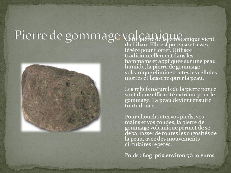 Pierre de gommage volcanique