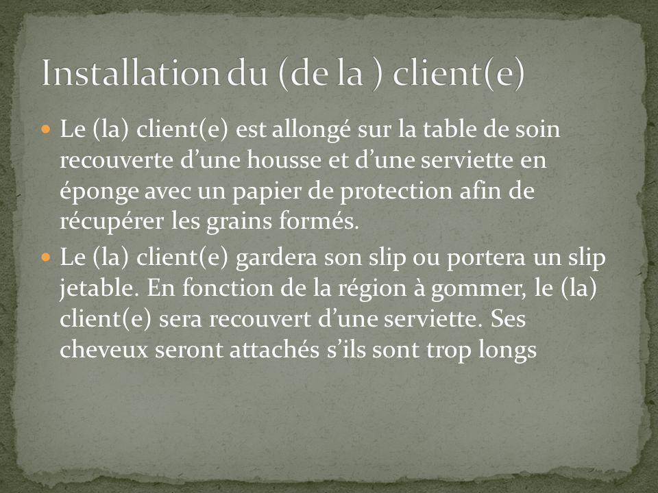 Installation du (de la ) client(e)