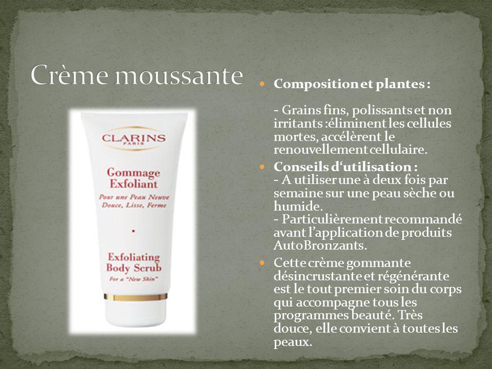 Crème moussante
