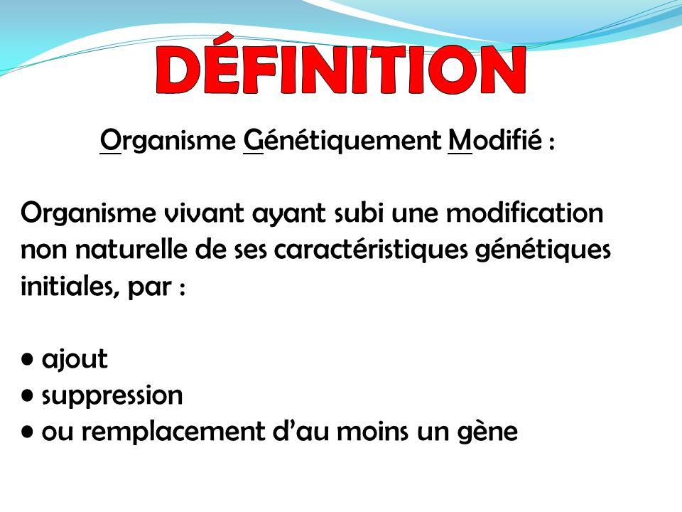Organisme Génétiquement Modifié :