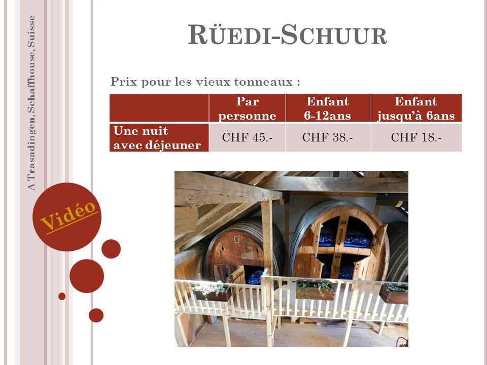 Rüedi-Schuur Vidéo Prix pour les vieux tonneaux : Par personne