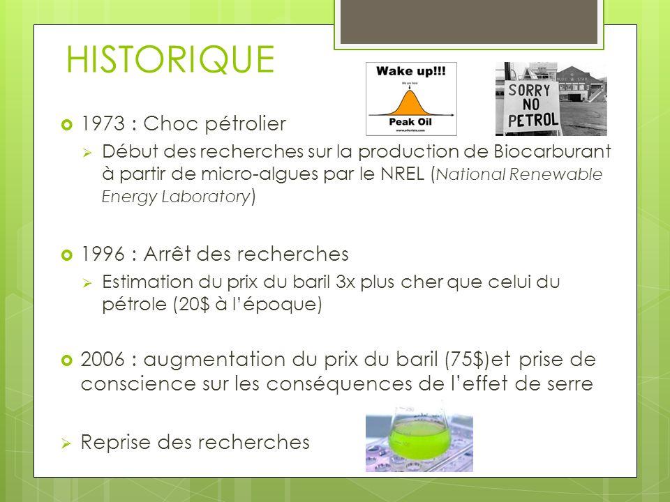 HISTORIQUE 1973 : Choc pétrolier 1996 : Arrêt des recherches