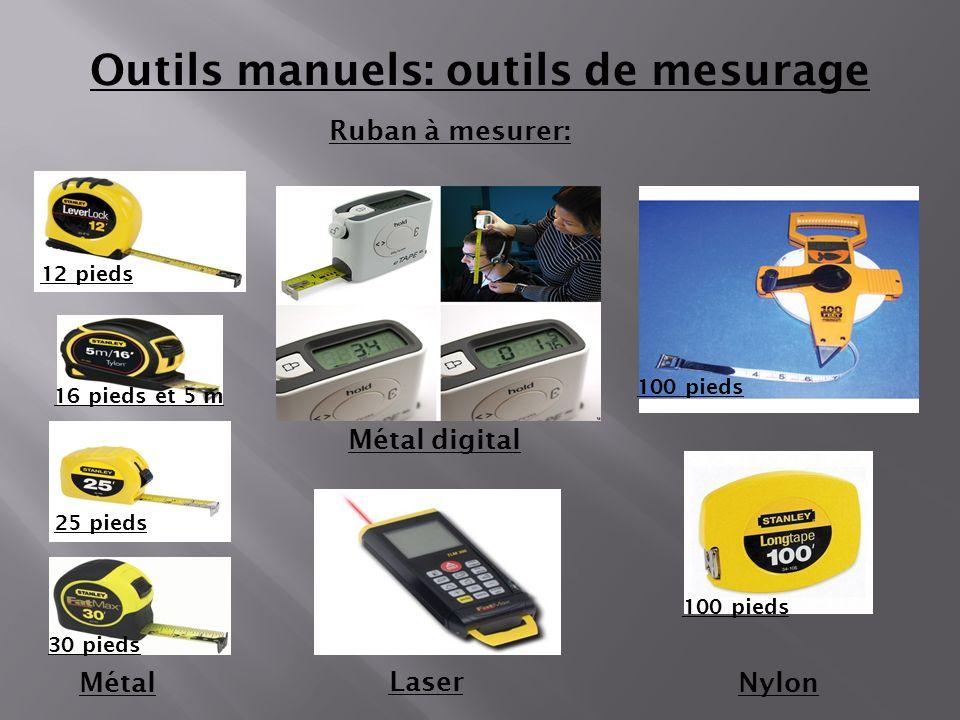Outils manuels: outils de mesurage