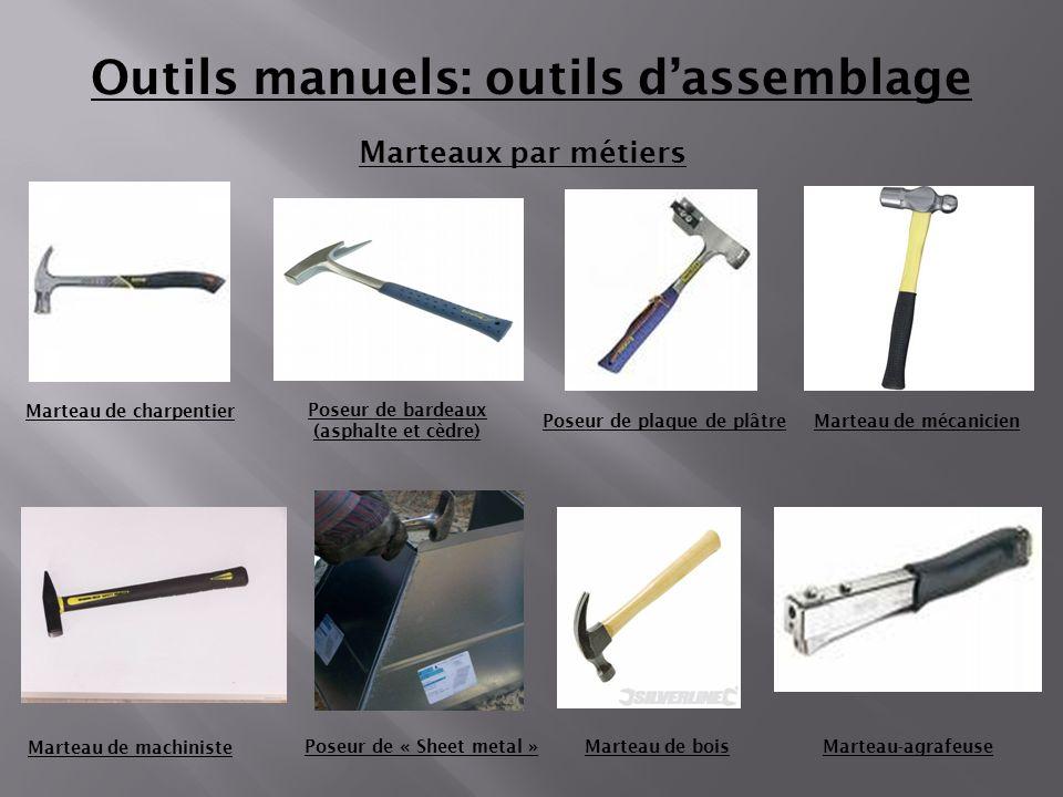 Outils manuels: outils d'assemblage
