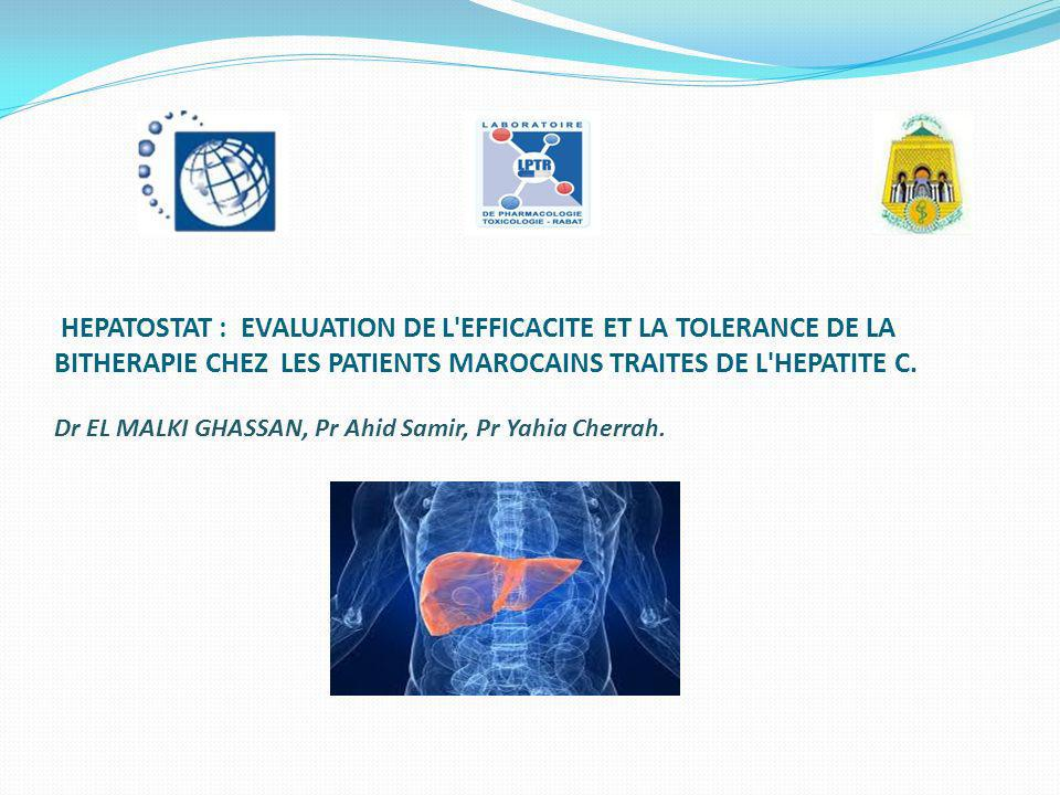 HEPATOSTAT : EVALUATION DE L EFFICACITE ET LA TOLERANCE DE LA BITHERAPIE CHEZ LES PATIENTS MAROCAINS TRAITES DE L HEPATITE C.