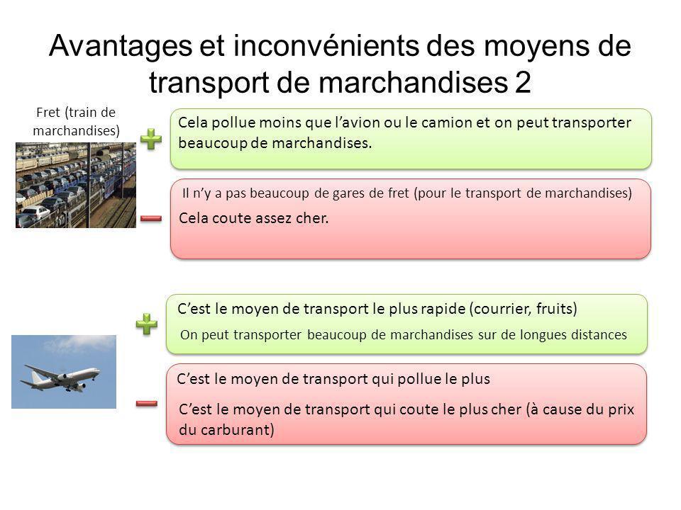 Avantages et inconvénients des moyens de transport de marchandises 2