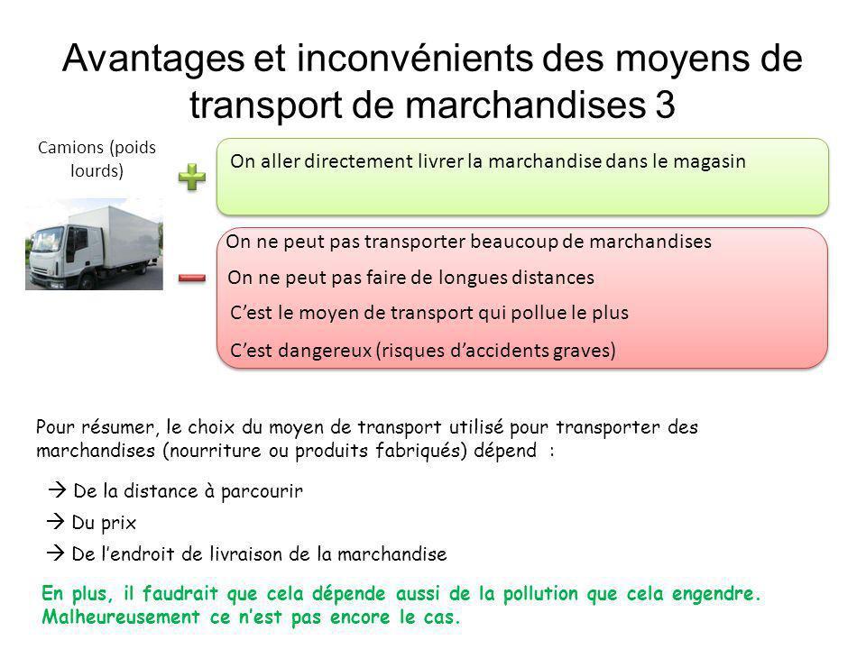 Avantages et inconvénients des moyens de transport de marchandises 3