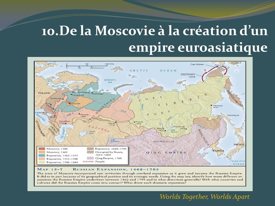10.De la Moscovie à la création d'un empire euroasiatique