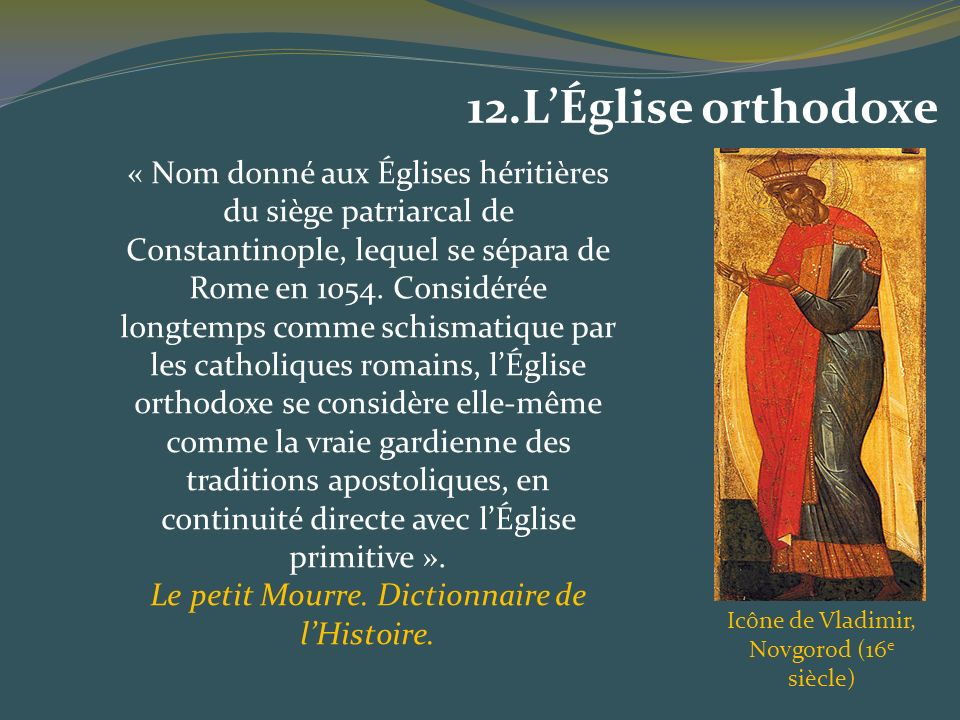 12.L'Église orthodoxe