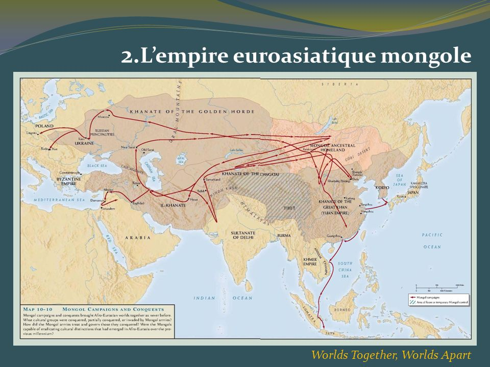 2.L'empire euroasiatique mongole