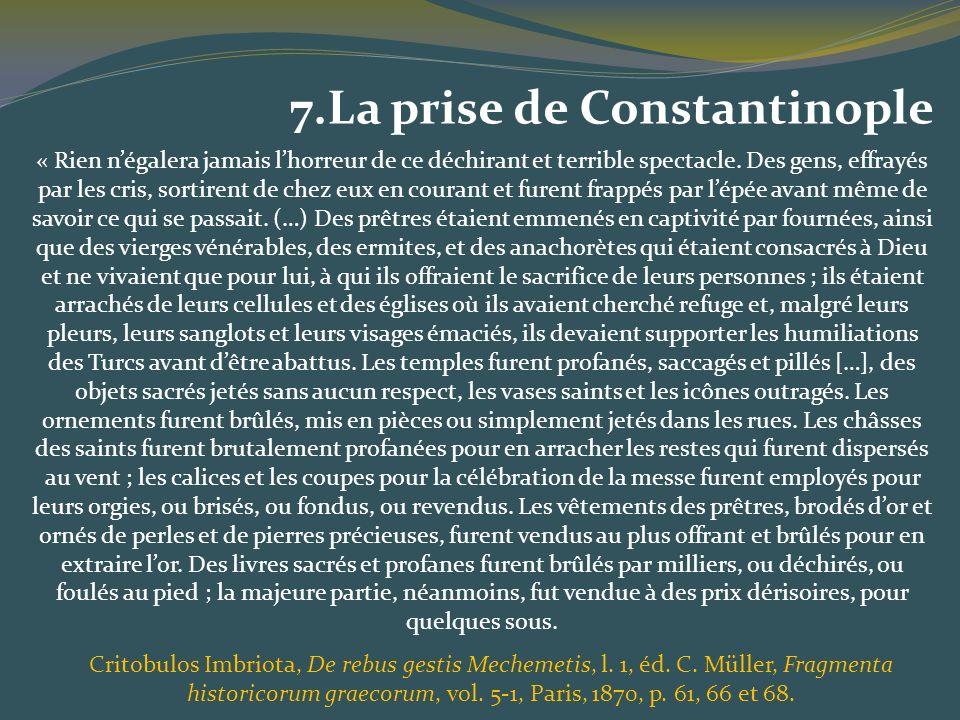 7.La prise de Constantinople