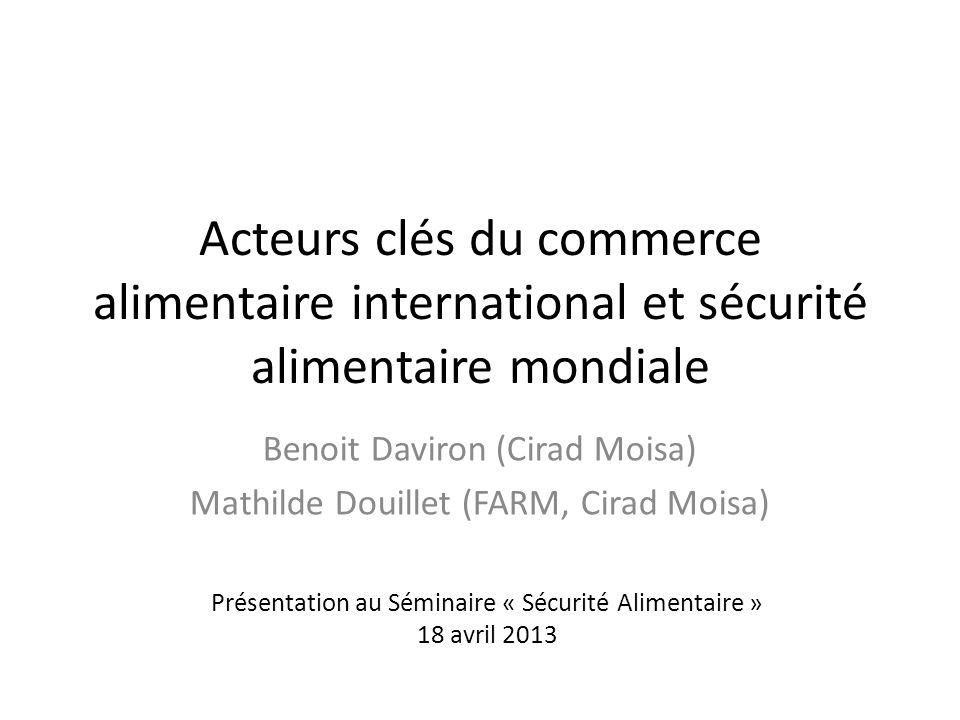 Benoit Daviron (Cirad Moisa) Mathilde Douillet (FARM, Cirad Moisa)