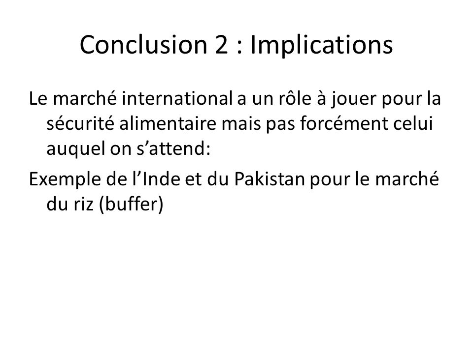 Conclusion 2 : Implications