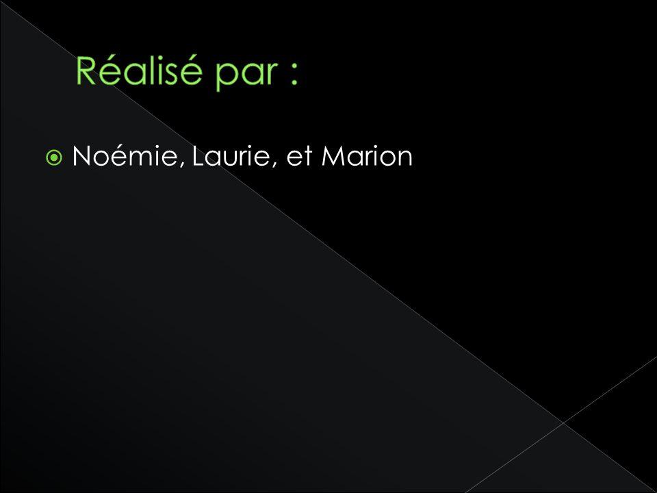 Réalisé par : Noémie, Laurie, et Marion