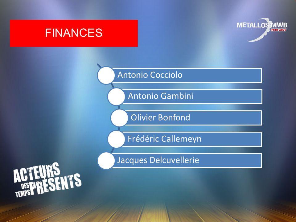 FINANCES Antonio Cocciolo Antonio Gambini Olivier Bonfond