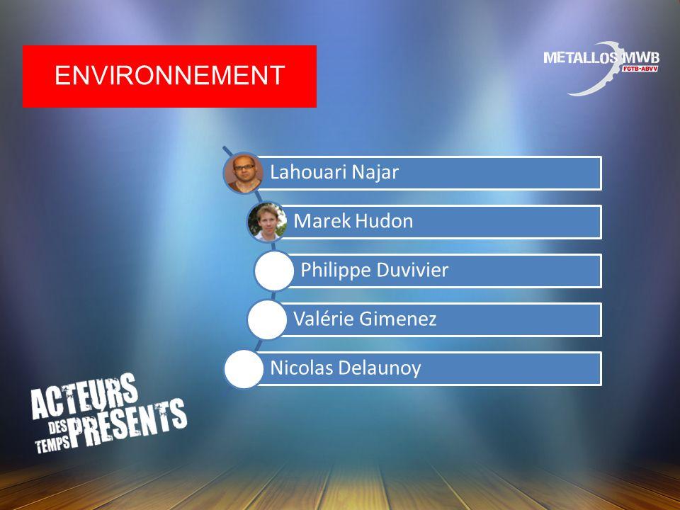 Environnement Lahouari Najar Marek Hudon Philippe Duvivier
