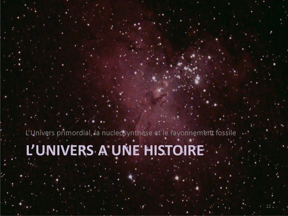 L'univers a une histoire