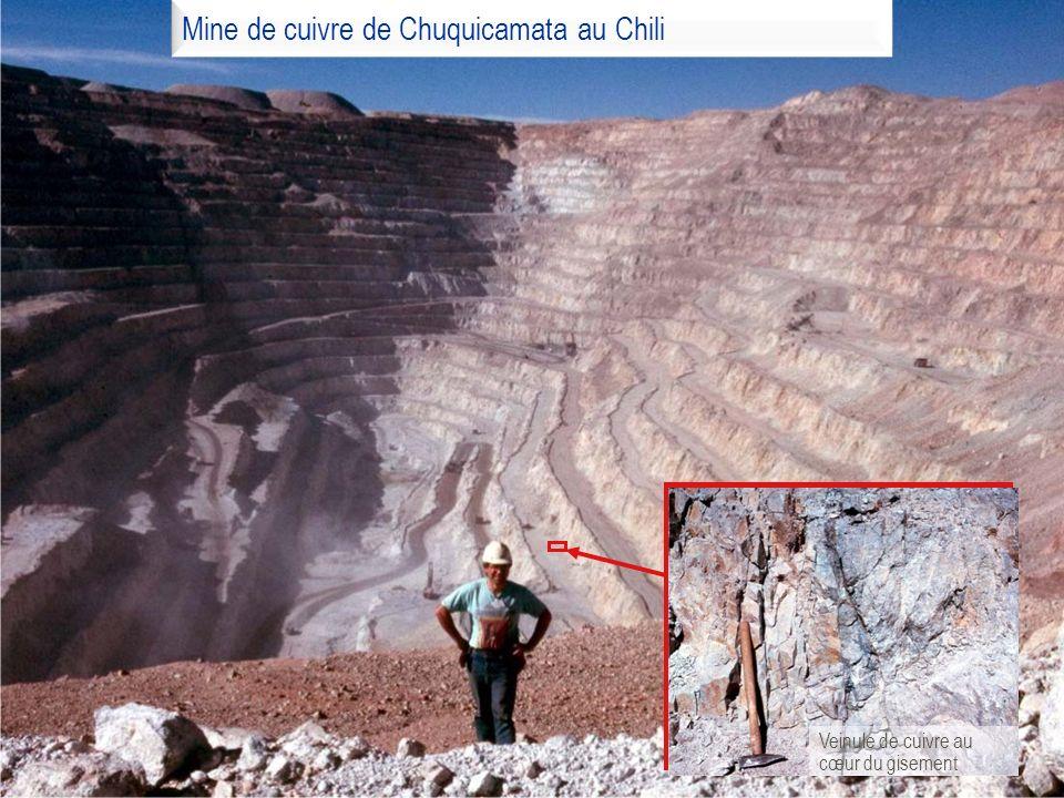 Mine de cuivre de Chuquicamata au Chili