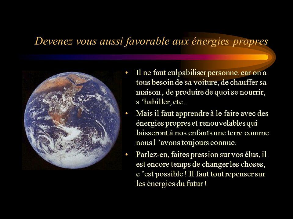 Devenez vous aussi favorable aux énergies propres