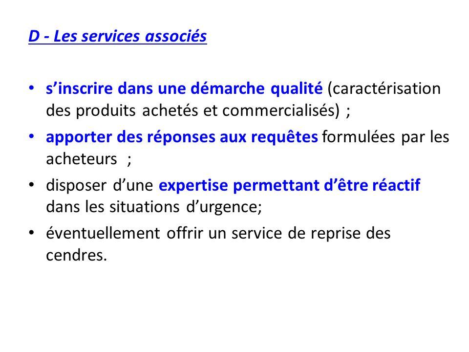 D - Les services associés