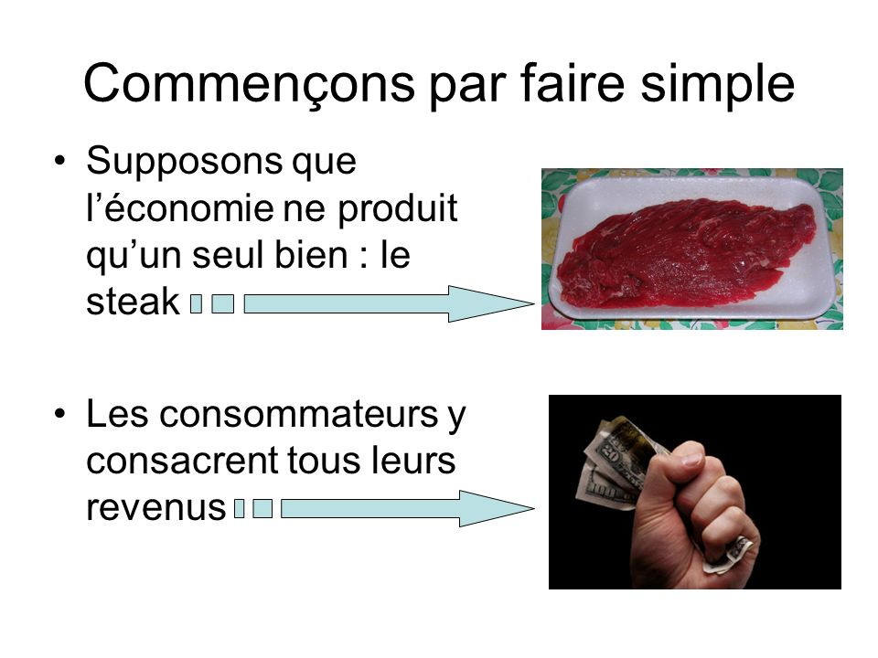 Commençons par faire simple