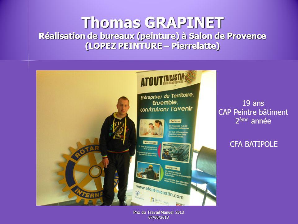 Thomas GRAPINET Réalisation de bureaux (peinture) à Salon de Provence (LOPEZ PEINTURE – Pierrelatte)