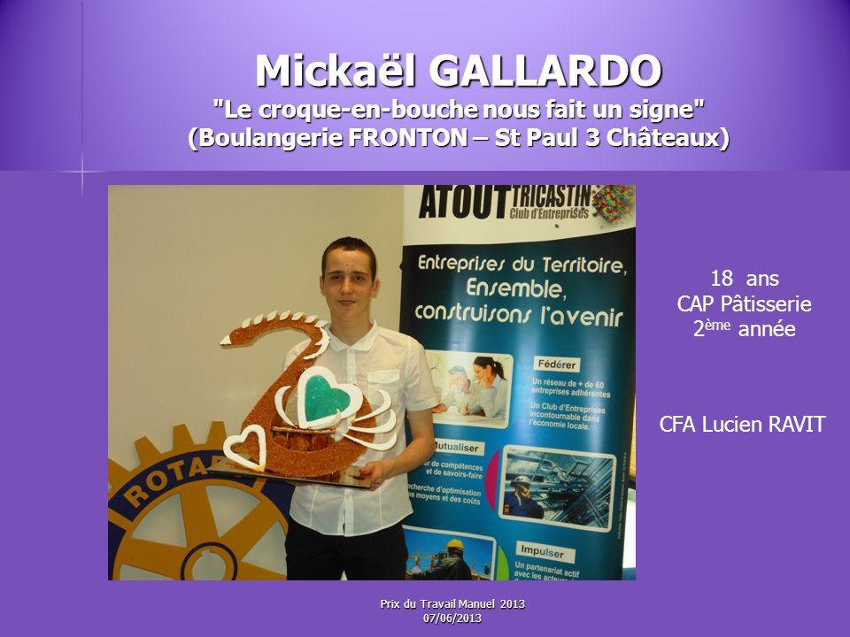 Mickaël GALLARDO Le croque-en-bouche nous fait un signe