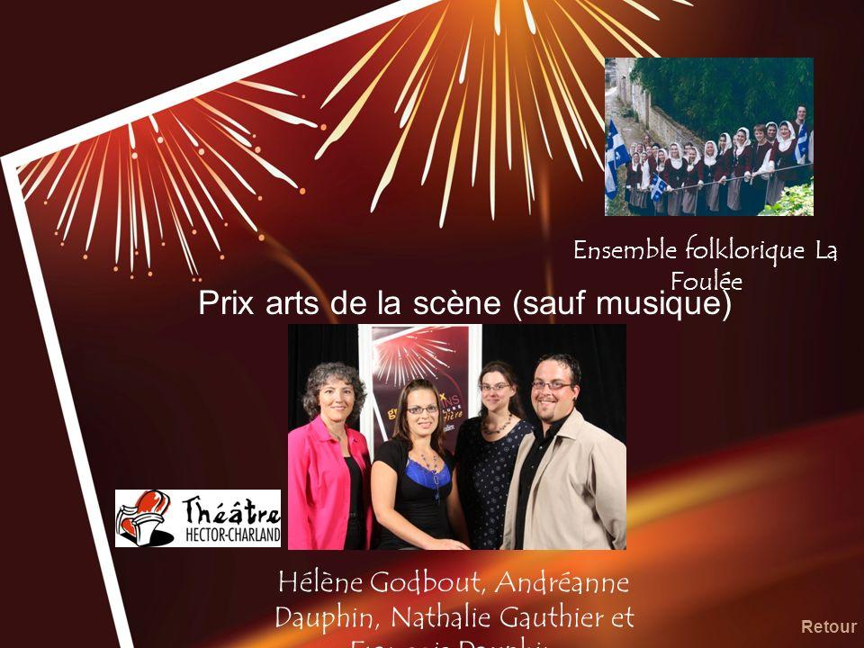 Prix arts de la scène (sauf musique)