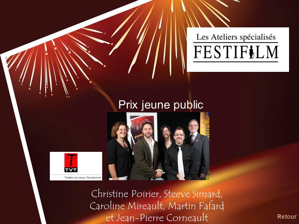 Prix jeune public Christine Poirier, Steeve Simard, Caroline Mireault, Martin Fafard et Jean-Pierre Corneault.