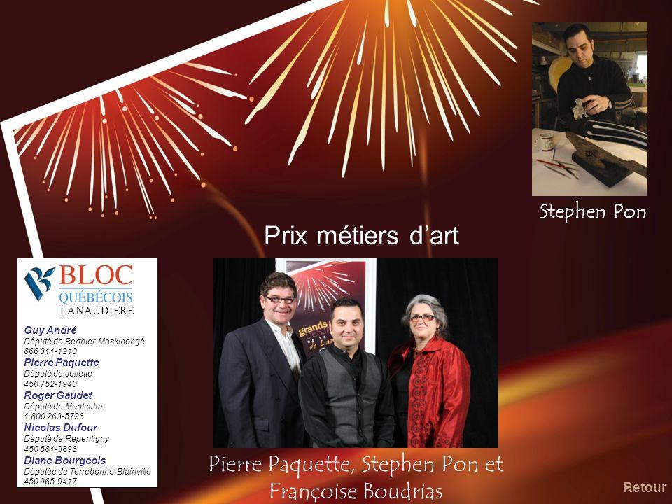 Pierre Paquette, Stephen Pon et Françoise Boudrias