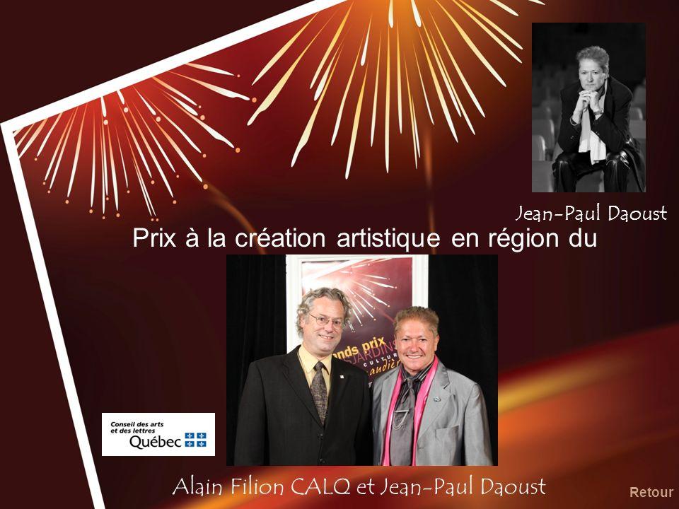 Prix à la création artistique en région du CALQ