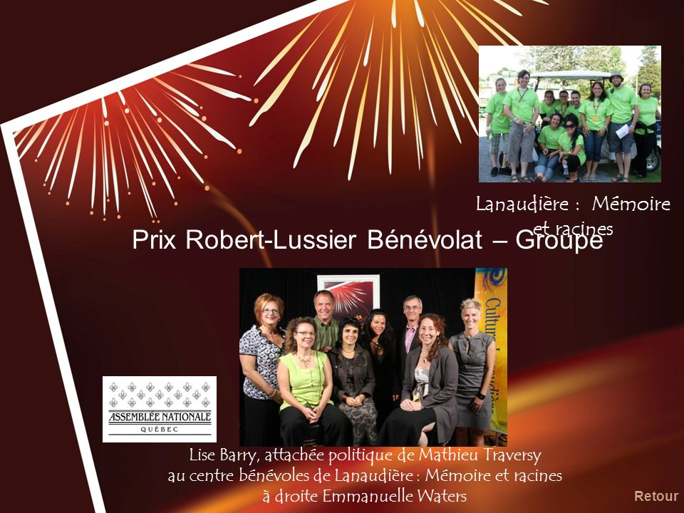 Prix Robert-Lussier Bénévolat – Groupe