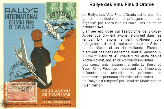 Rallye des Vins Fins d'Oranie
