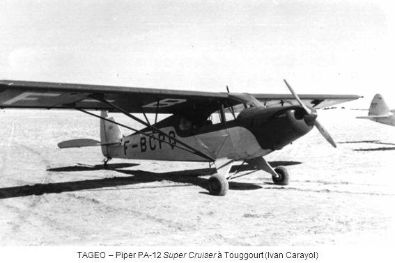 TAGEO – Piper PA-12 Super Cruiser à Touggourt (Ivan Carayol)